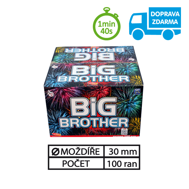 SLOŽENÝ OHŇOSTROJ BIG BROTHER 100 RAN 30 mm