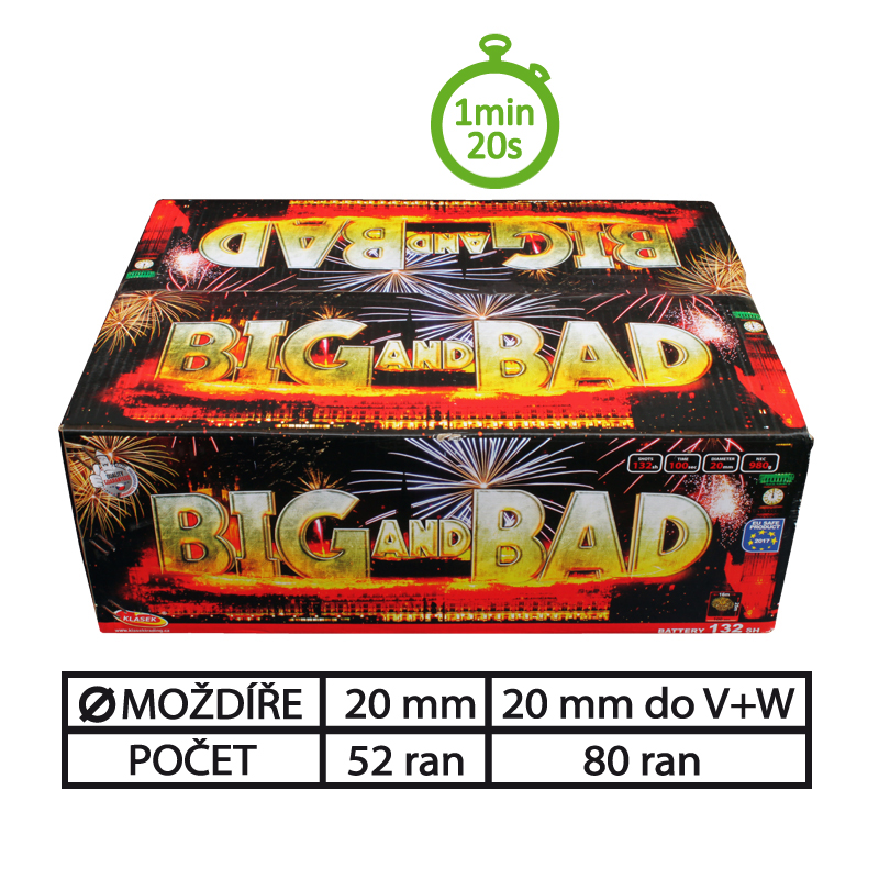 SLOŽENÝ OHŇOSTROJ BIG AND BAD 132 RAN 20 mm